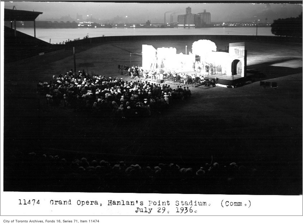 1936 - Grand Opera, Hanlan's Point Stadium, (Commercial DCepartment)