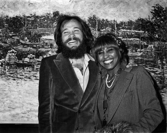 Here I am with Tina Turner, a fan and collector of mine, at the 1978 opening of one of my exhibits at Wally Findlay Galleries in Beverly Hills