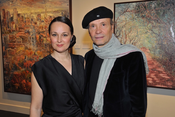 This is my beautiful wife Emilia and I at one of my exhibit openings here in Toronto at Berenson Fine Art