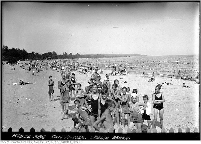 1924 - Leslie Beach - bathing