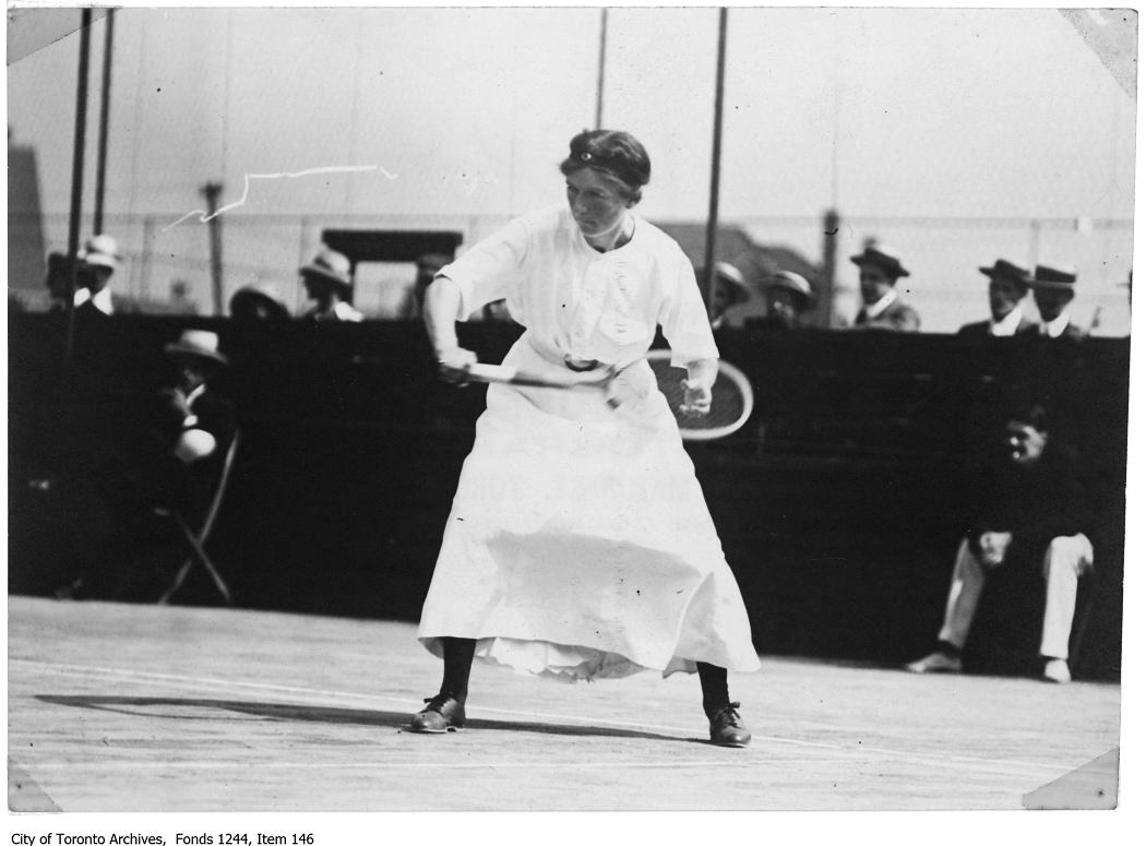 1907 - Mrs. Bickle playing tennis