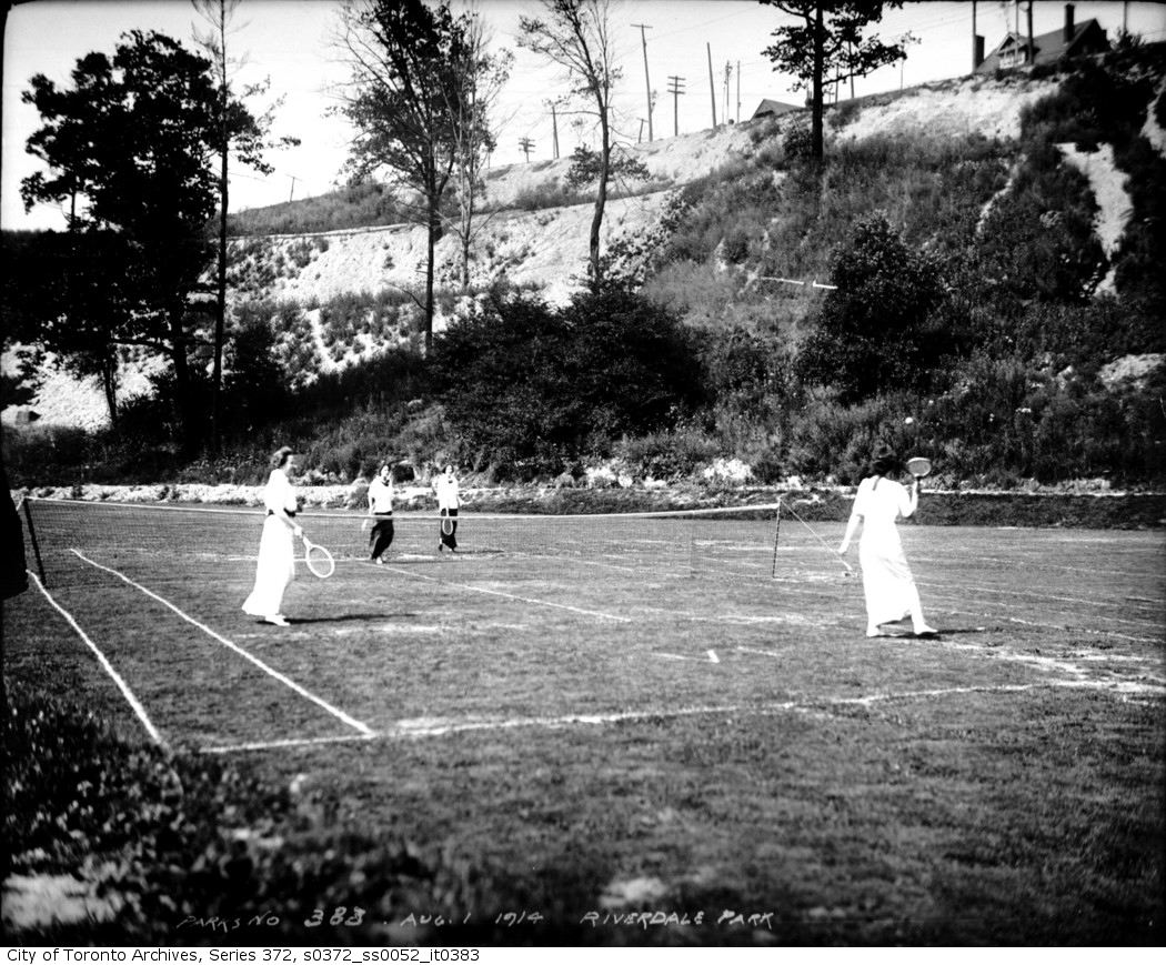1914 - aug 1 - Riverdale Park ladies' tennis