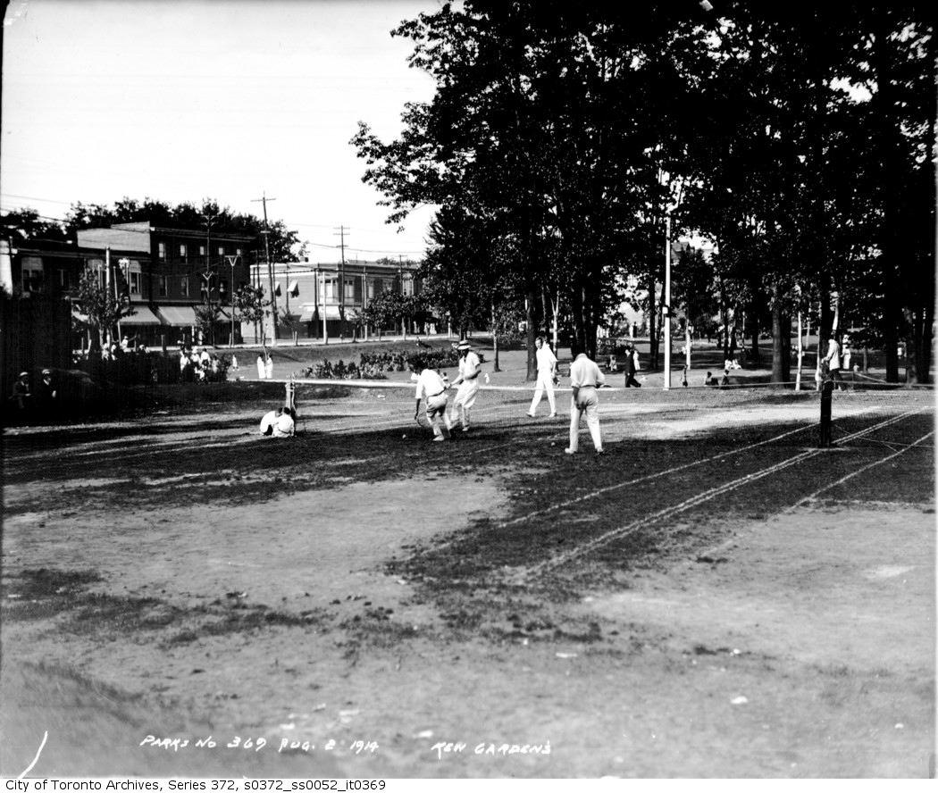 1914 - aug 2 - Kew Gardens — tennis copy