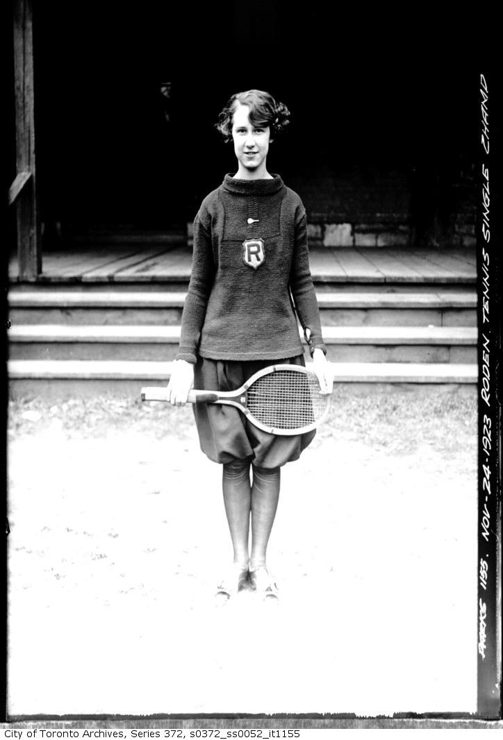 1923 - nov 24 - Roden (school) Tennis Singles Ladies Champion