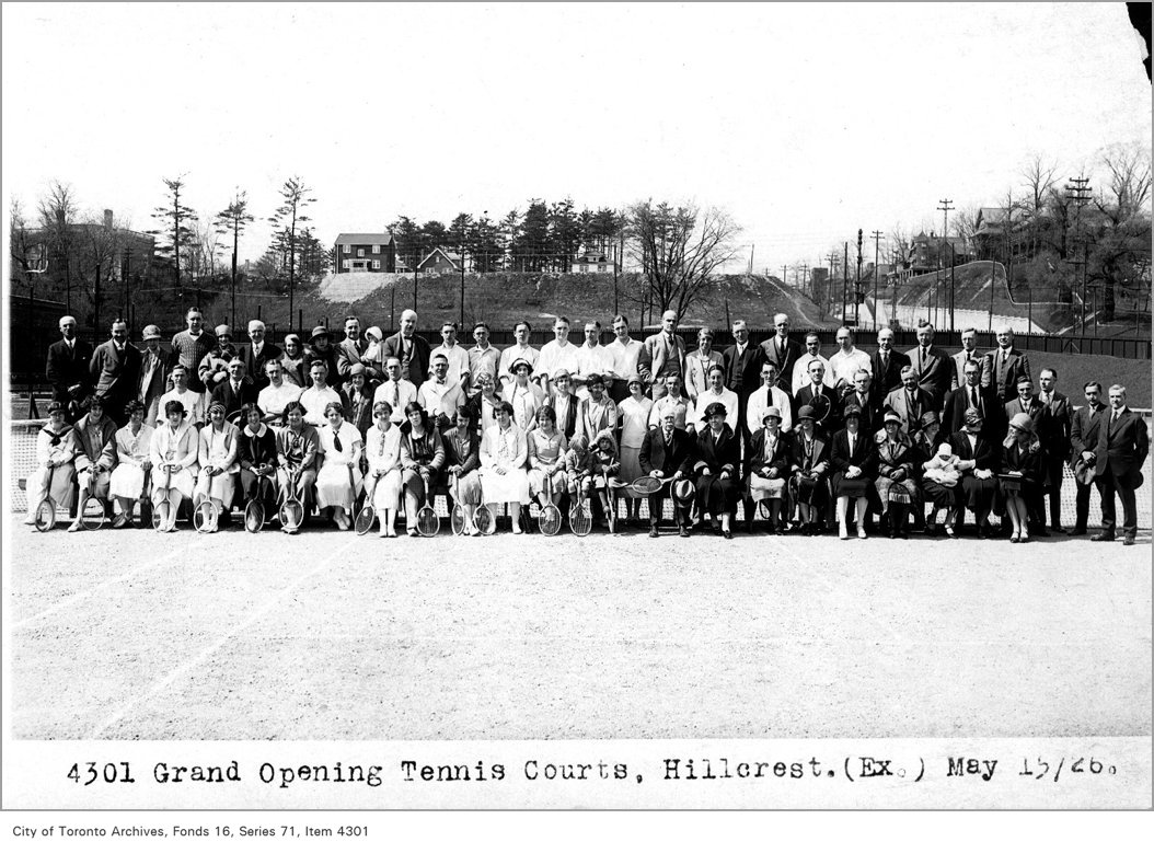 1926 - may 15 - Grand opening, tennis courts, Hillcrest