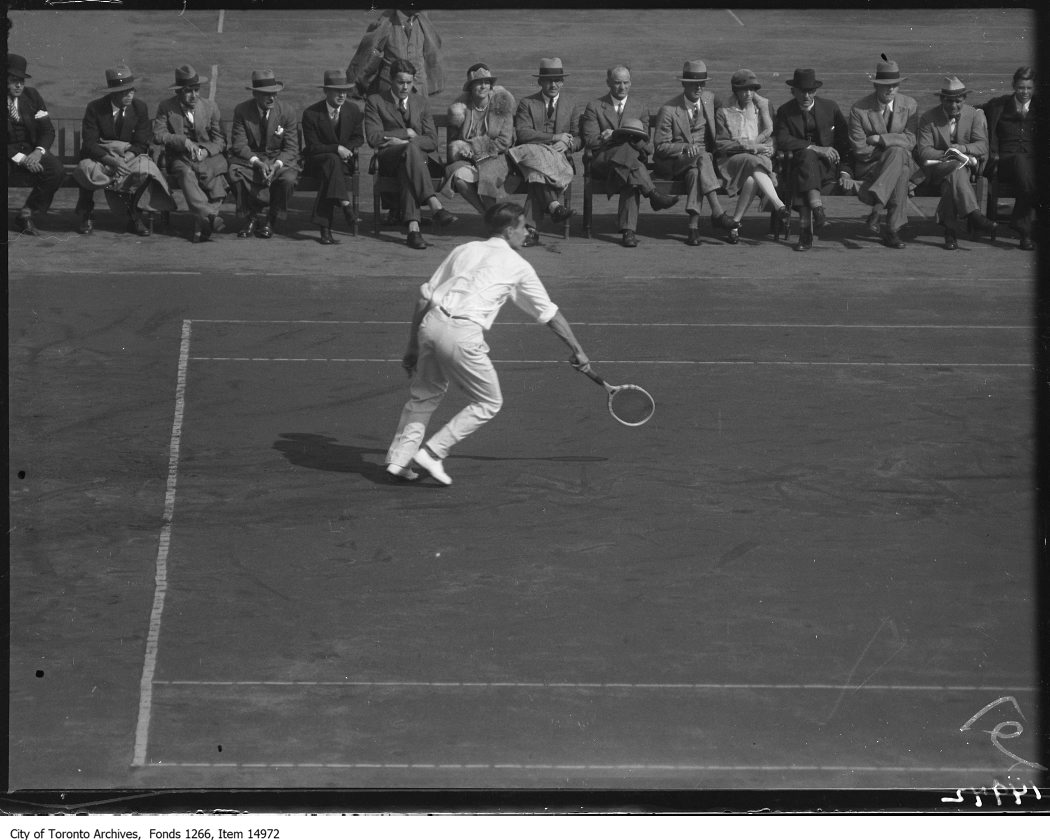 1928 - Toronto Tennis Club, Ham, Canada, action