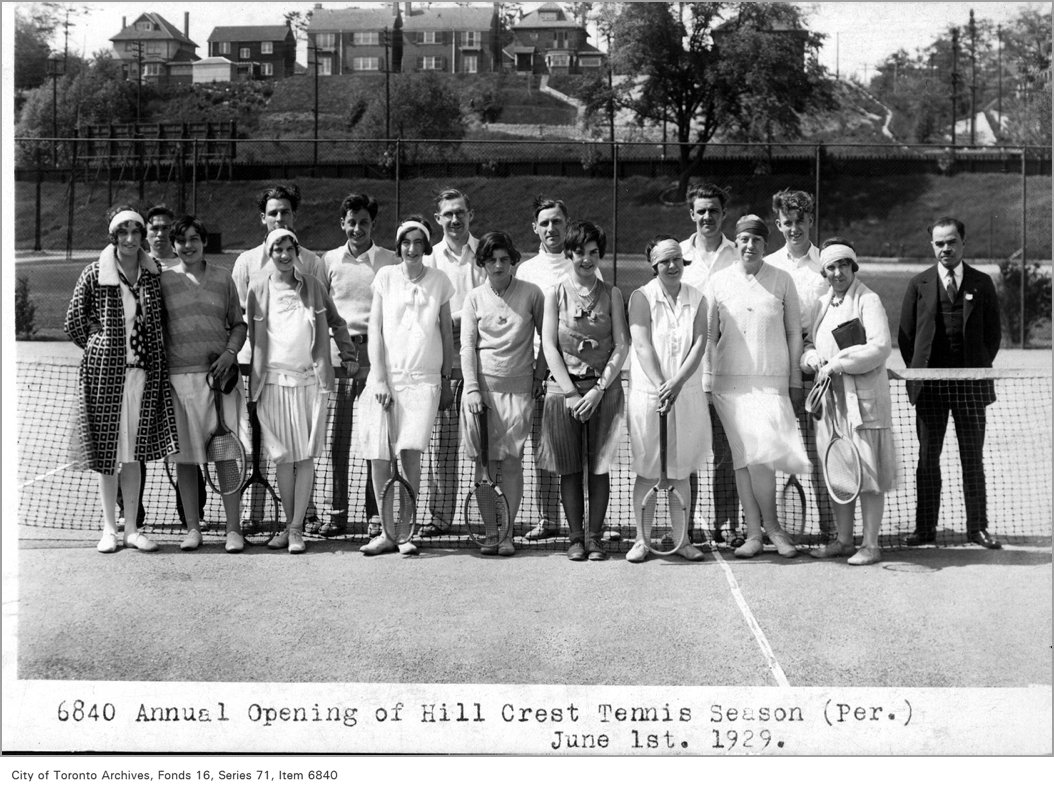 1929 - june - Annual opening of Hillcrest tennis season
