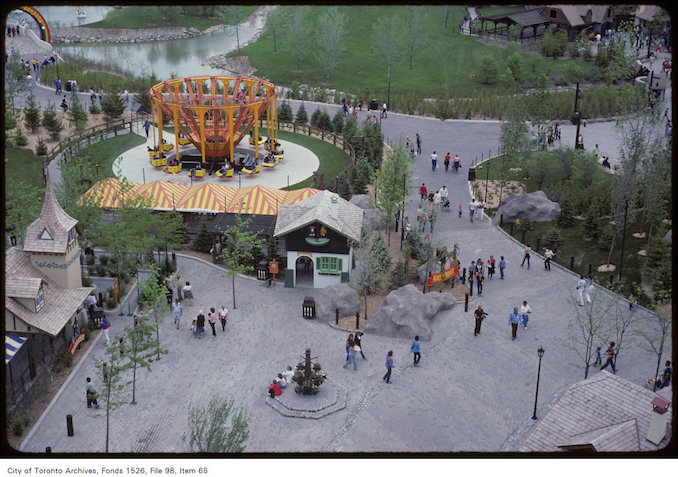 1981 - june 8 - Overhead view of grounds at Canada's Wonderland copy