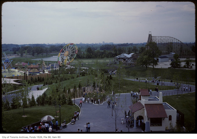 1981 - june 8 - Overhead view of grounds at Canada's Wonderland