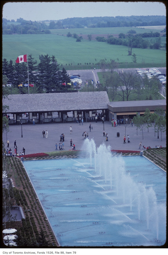 1981 - june 8 - Overhead view of water feature on Canada's Wonderland grounds