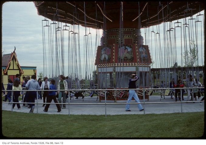 1981 - june 8 - View of swing carousel at Canada's Wonderland