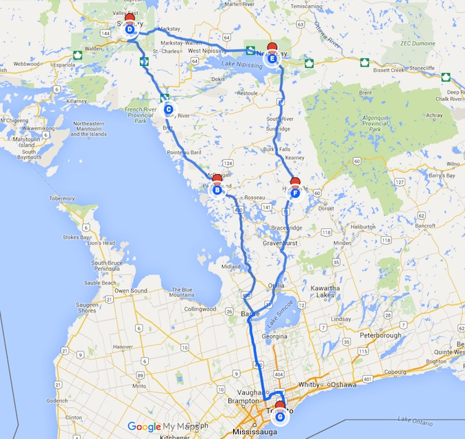 3-Day Road trip - Ontario Road Trip