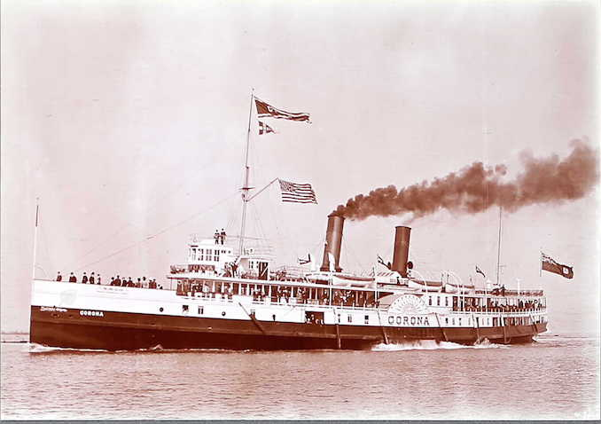 "501 Steamer ""Corona"" in the Toronto Harbour, Toronto"