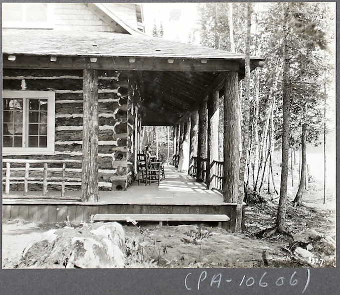 """Nominigan Camp"", Smoke Lake, Algonquin Park Settlement Photographs"