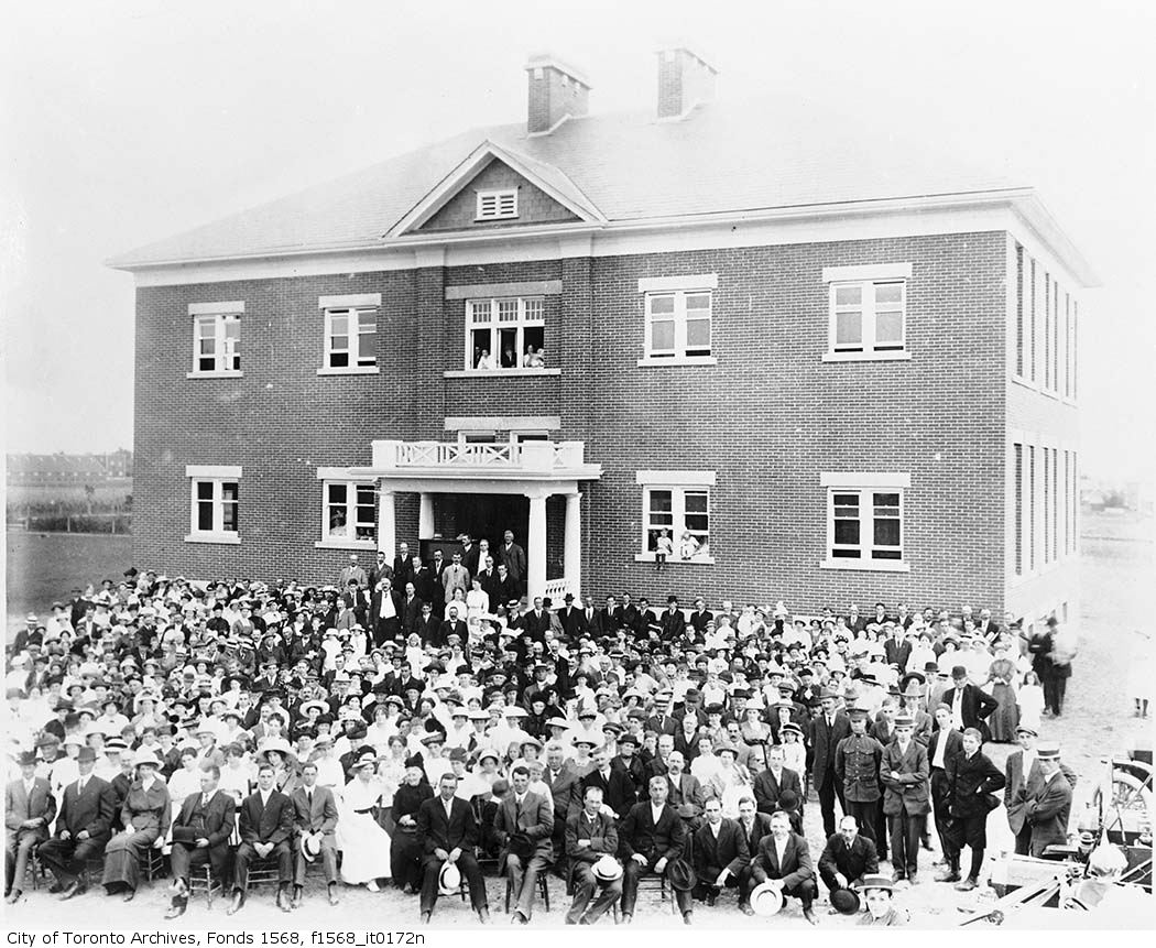 1900s - Agincourt Public School opening ceremonies, Agincourt, Scarborough Twp
