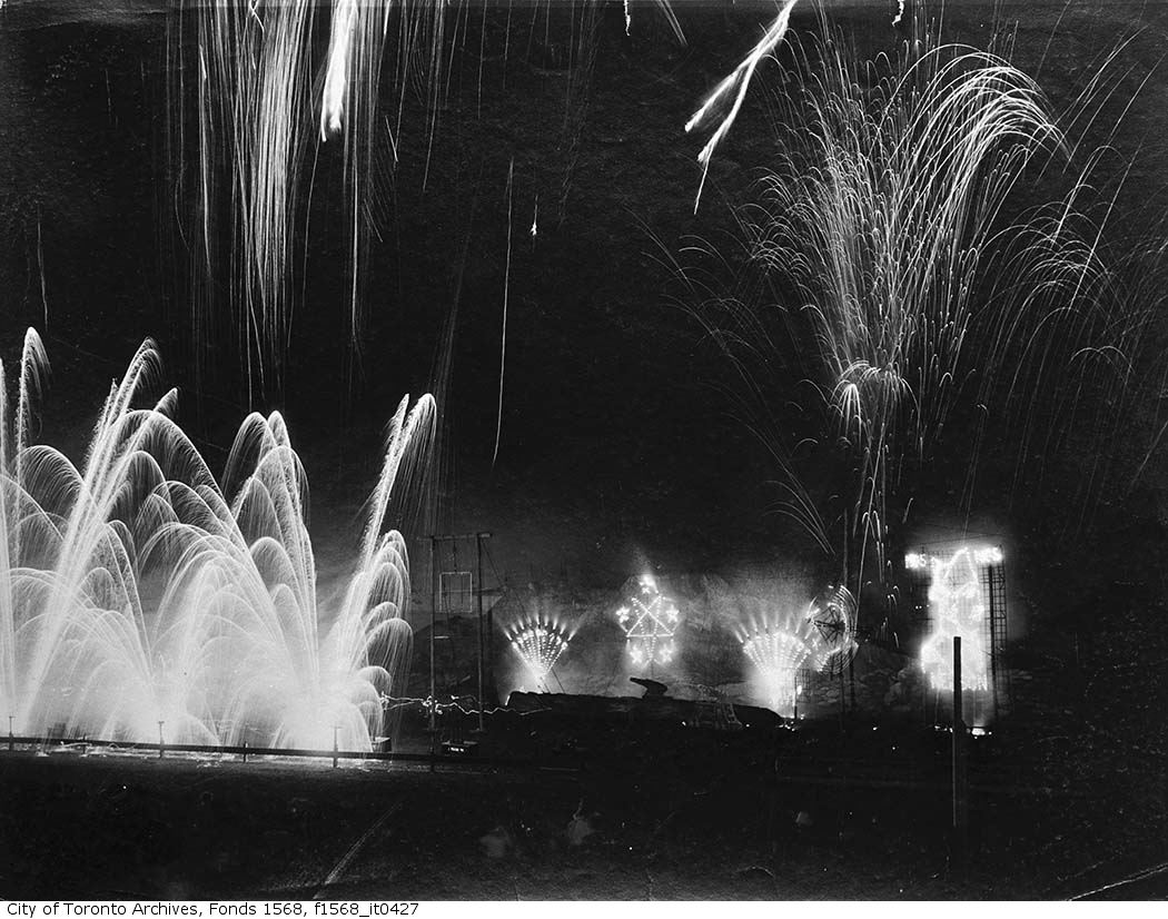 1905 - CNE fireworks display, Toronto