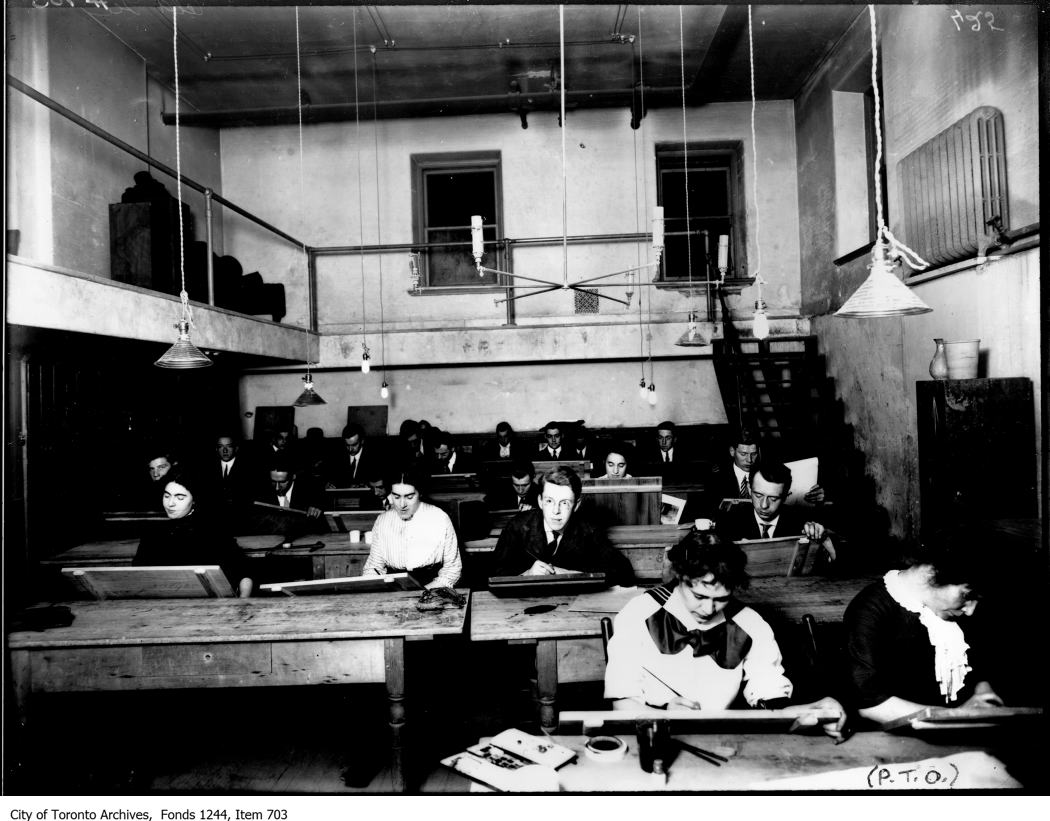 1908 - Artists' class in old swimming pool