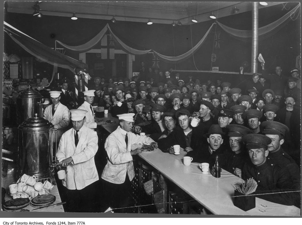 1914 - CNE camp canteen