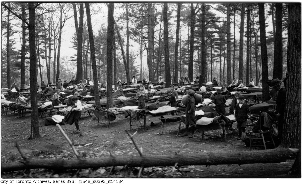 1917 - Forest School - waking up and making beds