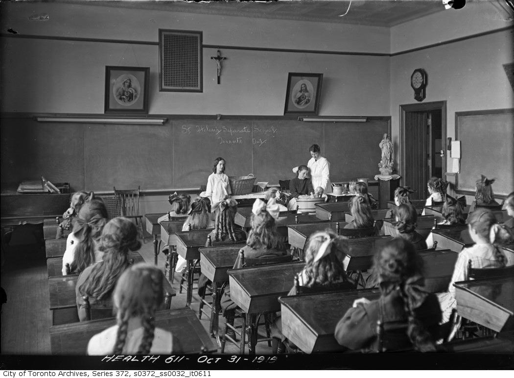 1919 - St. Helen's Separate School — Little Mothers Class