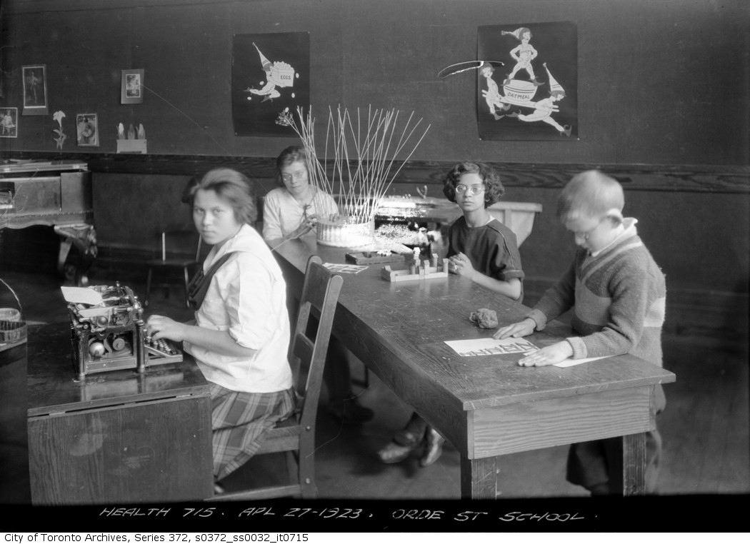 1923 - Orde Street School — sight saving adjustable desk