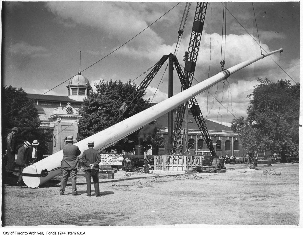 1930? - CNE flagpole raising