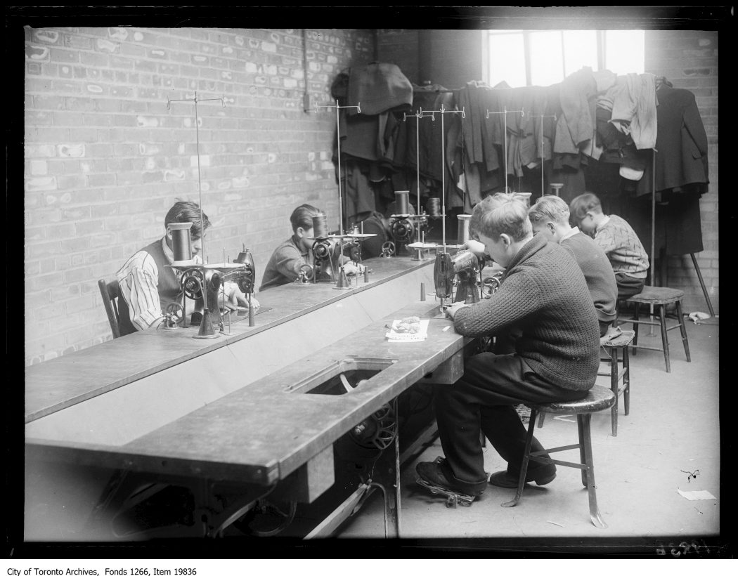 1930 - Junior Vocational School, tailor shop