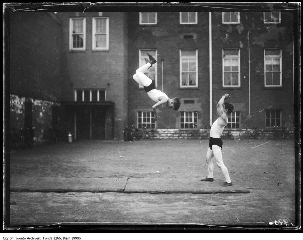 1930 - Junior Vocational School, tumbling, 2 boys