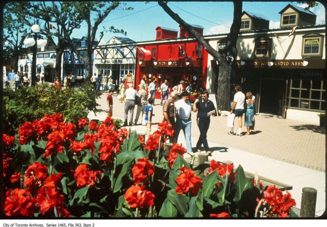 1978-87 - Stores lining Centennial Park, CNE