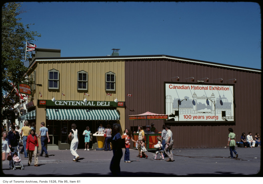 1978 - View of food stand, west side of CNE grounds