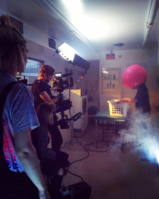 D.W. Waterson on set directing the music video for Princess Century - Metro, that debuted on THUMP