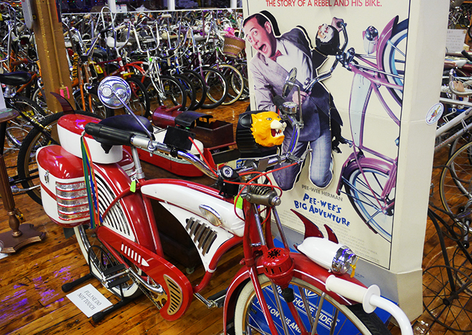Pee Wee Herman's Bike at the Bicycle Heaven Museum - American Road Trip
