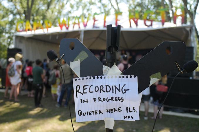 Recording in Progress at Camp Wavelength 2016. Photo credit: William Bembridge