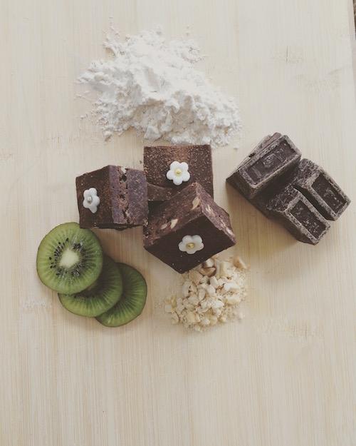 chocolate-pecan-brownie honeydew creations