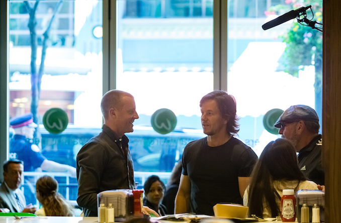 Mark Wahlberg at Wahlburgers in Toronto