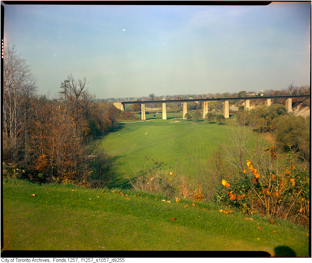 1960-80 - View of Weston Golf Club grounds, with CNR bridge in distance