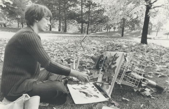 1979 - High Park -Nikolette Jakovac has been painting for 15 years and for the past three she's concentrated on painting park scenes as the seasons change