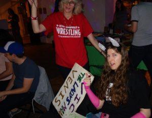 super fans a t wrestling show