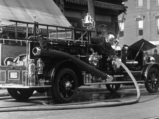 vintage fire truck photographs