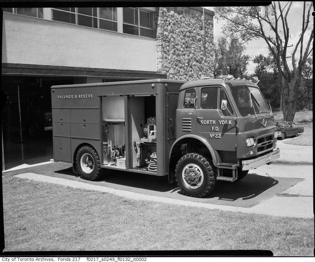 1965 - North York Fire Department Salvage and rescue truck