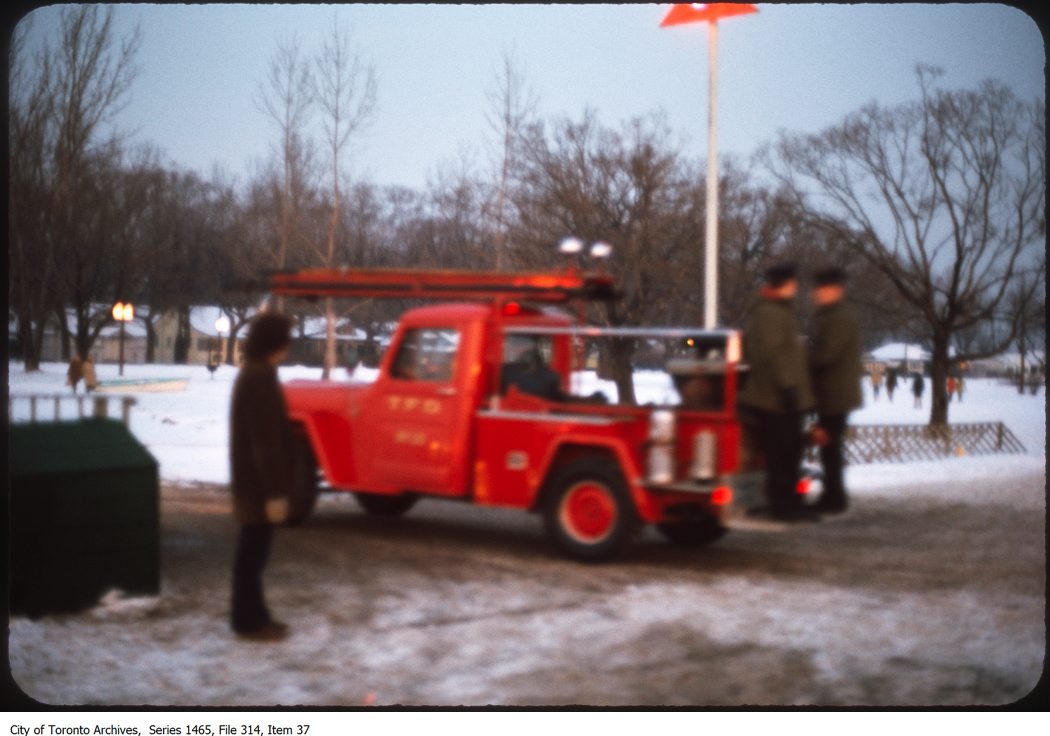 1970? - Small fire truck [?] on Island