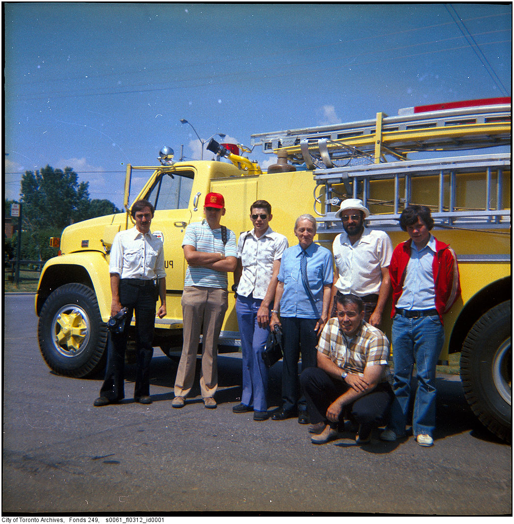 1977 - Scarborough Fire Department canteen truck and men 2