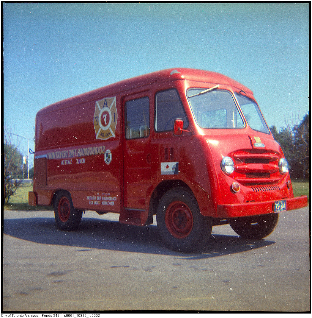 1977 - Scarborough Fire Department canteen truck and men
