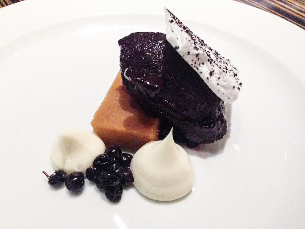white chocolate brownie with a skyr ganache - Icelandic Cuisine