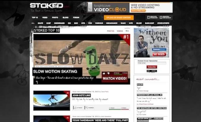 stoked.com homepage