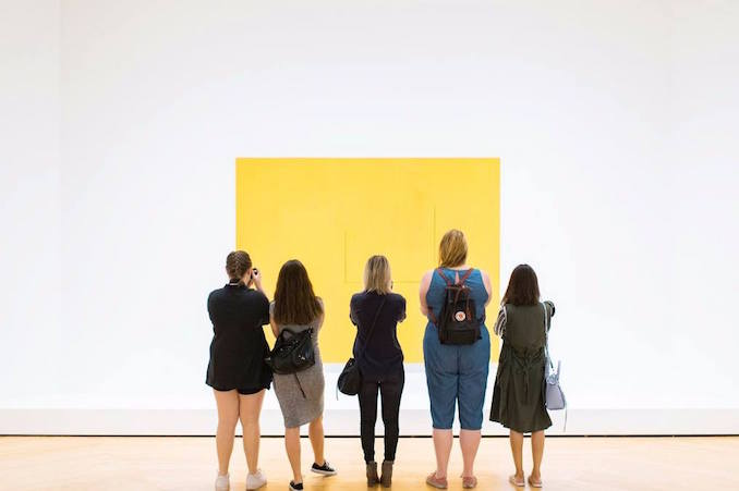 Going to museums and galleries weekly is a big part of my practice. It recharges me and keeps my mind open. Here I am with some like minded women at the AGO. - yuli scheidt