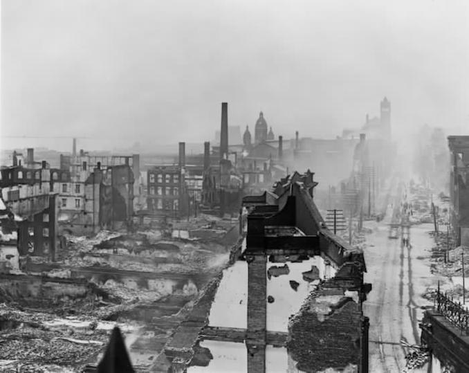 1904 - aftermath, Front St. W., w. from Yonge St. (from top of Custom House)