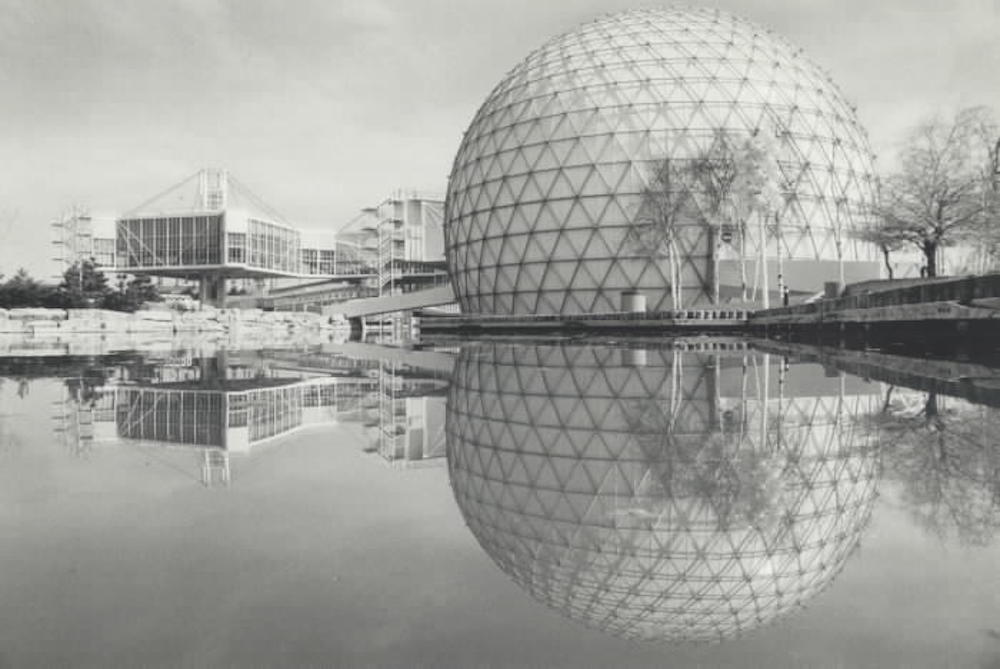 At the heart of Ontario Place is the Cinesphere an 800-seat cinema with an 80-foot-by-60-foot screen