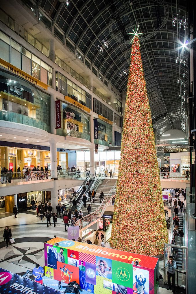 Eaton Centre Christmas Tree 2016