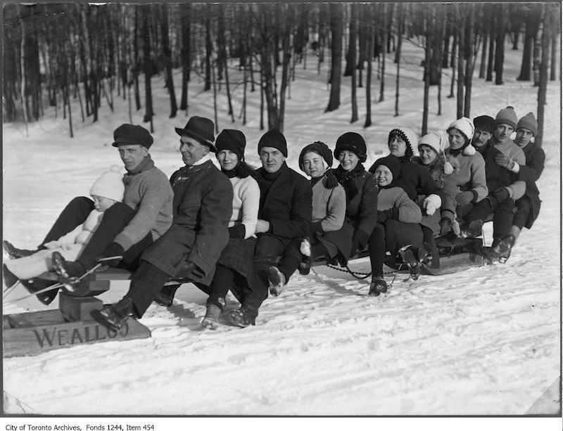 1910 - Group on sled, High Park